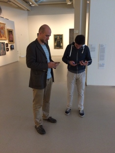 Testing the wireless coverage in the museum